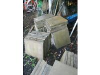 Patio slabs used condition...free local pickup