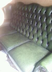 queen anne three seater sofa