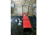 Weights and bench