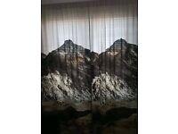 Pair of Photo-Print H&M Curtains