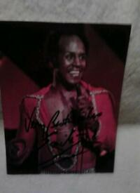 Emile Ford photo signed.