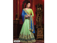 Buy Classy Blue Colored Georgette Designer Saree Online at Best Price from Leemboodi Fashion
