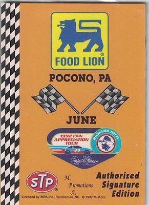 Food Lion 1992 Richard Petty Fan Appreciation Tour June Pocono Pa Pack Sealed