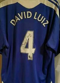 David Luiz signed Chelsea shirt