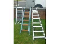 3 sets of step ladders 20 for them all.