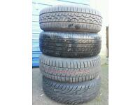 195/60/15.....Top Brand tyres....Firestone/Dunlop-sp.