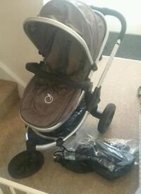 Icandy Peach Jogger with all terrain wheels. Complete travel system from newborn