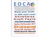 Christmas craft fayre stalls available