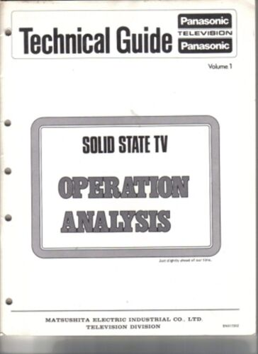 PANASONIC SERVICE MANUAL FOR SOLID STATE OPERATIONAL ANALYSIS