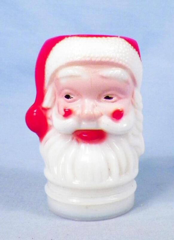 Vintage Santa Claus Lantern Globe Milk Glass Japan 1960s Vintage Toy Nice BB