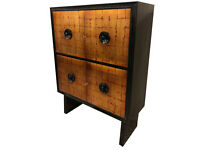 20th Century Art Deco Red and Gold Leaf Cabinet
