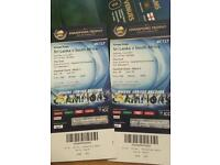 2 X bronze tickets for icc champions trophy Sri Lanka v south Africa 3rd june