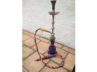 Blue Moroccan Sheesha (Shisha Hooka water pipe narguile)