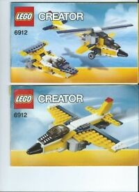 LEGO kit 6912 Super Soarers 3-in-1 Helicopter-Aeroplane-Speedboat complete with instructions