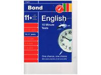 Bond English 10 Minute Tests 10-11+ years unused
