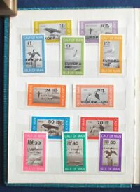 Calf of Man/ Isle of Man stamp collection, most are mint unmounted - 46 stamps.
