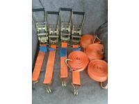 RATCHET STRAPS X 4 EACH ONE IS 30 ft LONG £45 THE LOT