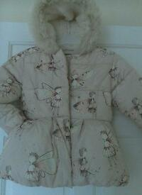 Next quality quilted coat age5-6.