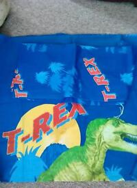 Dinosaur bedding and curtains from next