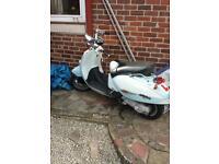 Aprilia 125 custom scooter