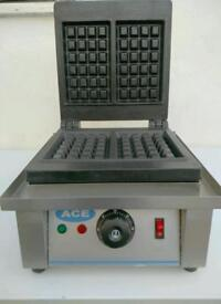 Commercial Electric waffle maker cast iron plates Brand new boxed