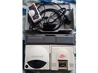 NEC PC ENGINE IFU CONSOLE & CD DRIVE SET.
