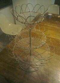 Rustic vintage french Kitchenalia. fruit / eggs / bread rack