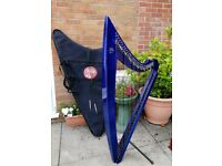 Harp for sale-36 string electric camac harp for sale