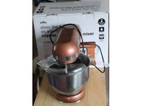 Copper Effect Food Mixer With 6 Settings