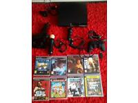 PlayStation 3 ps3 with 8 games