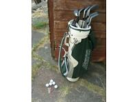 Golf Bag, Clubs, Balls and Tees
