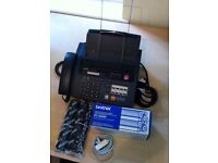 Brother fax-930 for sale with two printer rolls - used