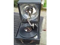 Decca antique portable wind-up gramophone