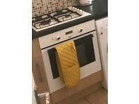 Electric oven white built in kitchen