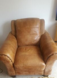 DFS Peyton Ranch Leather arm chair - Almost New - Only £500