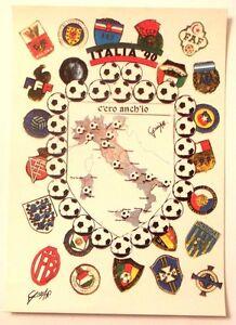 Cartolina-Italia-90-C-039-Ero-Anch-039-Io-Stemma-Italia-Stivale-Luoghi