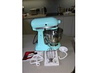 Kitchen Aid Artisan 4.8L Stand Mixer Ice Blue Unused and Complete