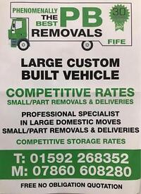 PB Removals Fife, Deliveries and Storage