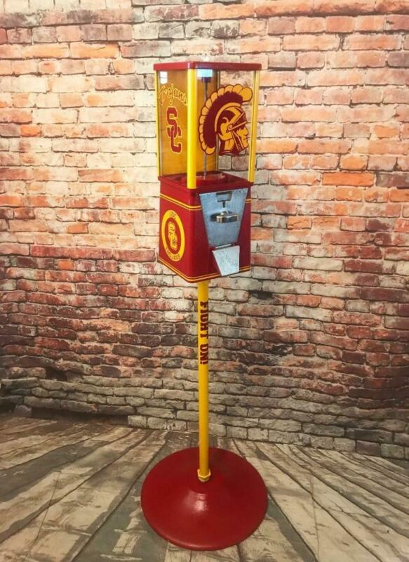 vintage gumball machine USC Trojans man cave  gift game room bar accessories