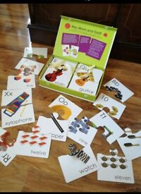 52 alphabet number cards in box learning