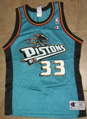 vintage 90's DETROIT PISTONS 33 GRANT HILL  Champion 40  Basketball JERSEY