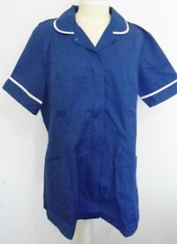 Alexandra Workwear Female Dark Blue Short Sleeved Tunic. Size 18