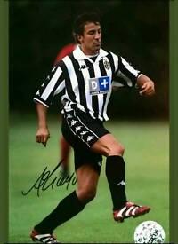 Alessandro De piero hand signed A4 Juventus photo with Coa