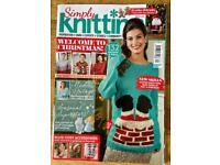 Bundle Of 5 Knitting Magazines. Christmas Theme. Fantastic Condition