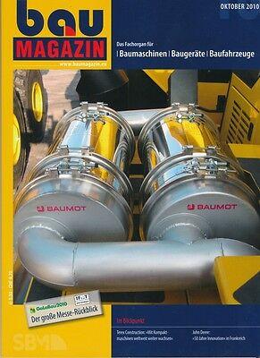 BauMagazin Oktober 2010 (Fachorgan für Baumaschinen)