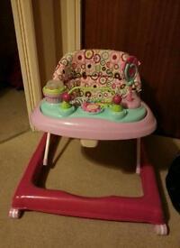 Pink Baby Walker **LIKE NEW**