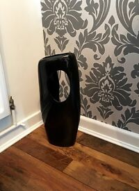 Large Black Vase