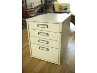 Ikea 'Effectiv' white cabinet - wood exterior / plastic interior