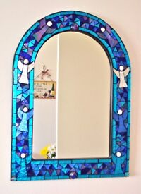 Stained Glass Angels Mirror