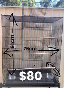 BRAND NEW flight Cage Wide & tall $80 flat pac; Trolley $40 extra